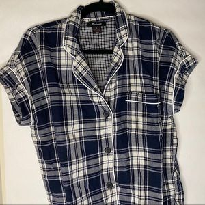 Madewell Blue Flannel Pajamas Set